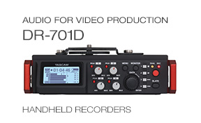 TASCAM DR-701D recorder for video production and DSLR